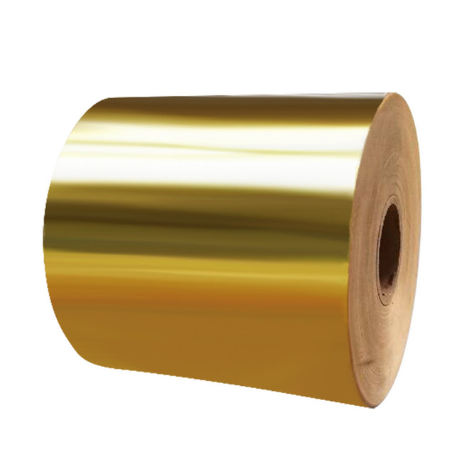 Bright Gold Aluminum 62GSM 500m Foil Paper Labels